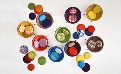 Bardi's Bowl Chairs by Arper (top view)
