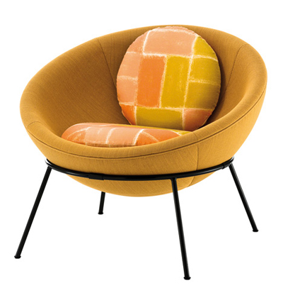 Bardi's Bowl Chair by Arper (yellow)
