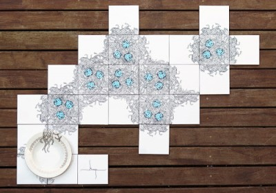SelfMural by Bussoga- spaghetti tiles
