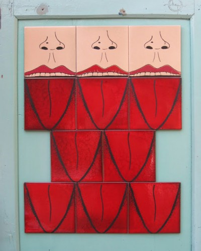 SelfMural by Bussoga - tongue tiles