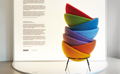 Bardi's Bowl Chairs by Arper (stacked)