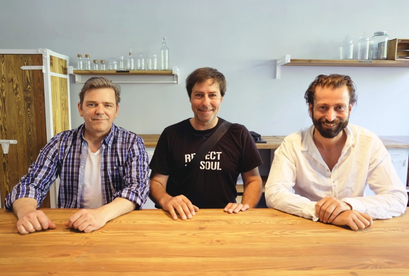 André Reitemeyer, Wolfgang Ahlers & Kris Wolf (left to right) of Noodles, Noodles & Noodles
